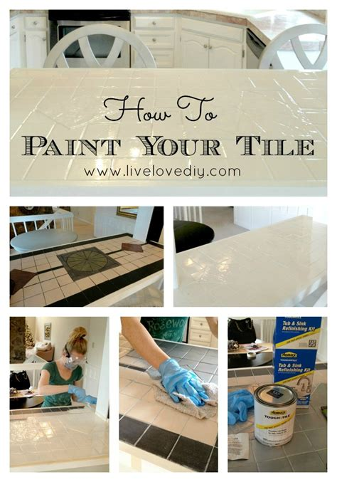 how to paint kitchen wall tiles livelovediy how to paint tile countertops 8805