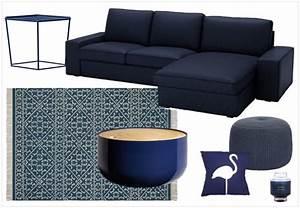 une touche de bleu marine dans la deco joli place With tapis ethnique avec canape angle bleu marine