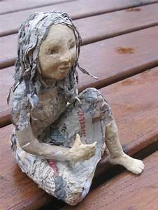 Sculpture En Papier Maché : sculpture poup e d 39 art pi ce unique personnage en papier m ch et p te bois sculptures ~ Melissatoandfro.com Idées de Décoration