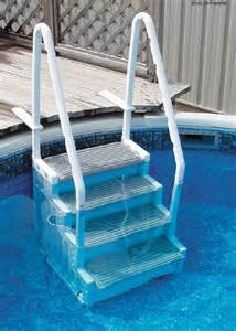 above ground swimming pool ladder heavy duty step deck access system easy entry ebay
