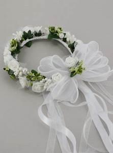 Couronne De Fleurs Mariage Petite Fille : couronne bapt me b b fille blanche fleurs et feuillage ~ Dallasstarsshop.com Idées de Décoration