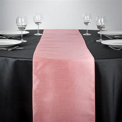linentablecloth     shantung silk table runner pink