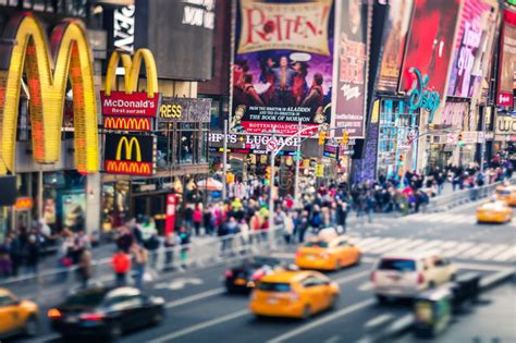 Times Square Famous Street Of New York City And Us Tilt
