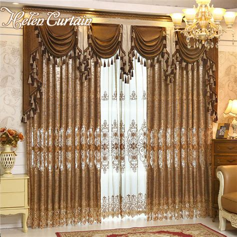 buy helen curtain luxury gold embroidered