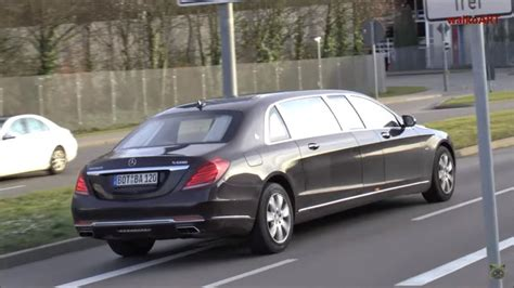 mercedes maybach  pullman caught  camera