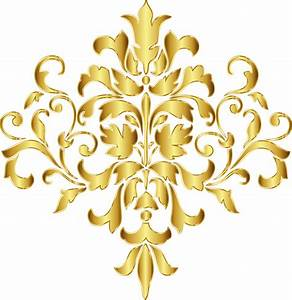 Gold Damask Corner Clip Art Pictures to Pin on Pinterest ...