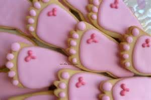 Decorated Shortbread Cookies by Reserved For Allababy Feet Cookies Baby Shower Cookie