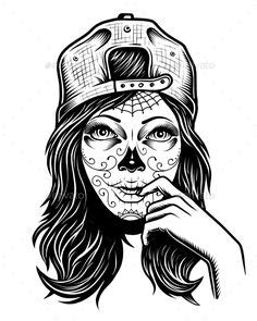 Sugar Skull   Skull coloring pages, Candy skulls, Adult coloring pages
