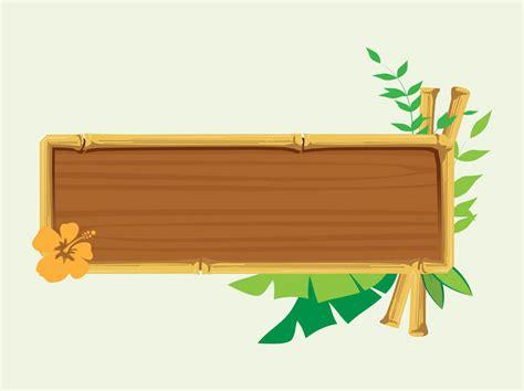 wooden banner vector art graphics freevectorcom