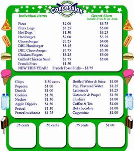 lgybs concession menus With concession stand menu template