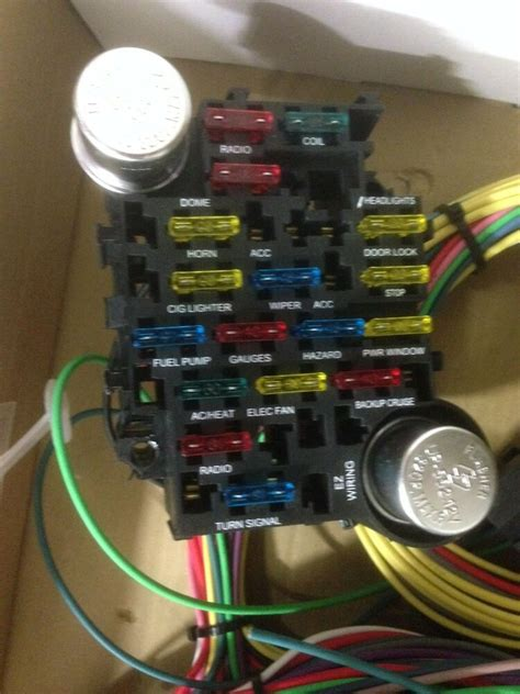 Ez Wiring Harnes Diagram Chevy by 21 Circuit 17 Fuses Ez Wiring Harness Chevy Mopar Ford