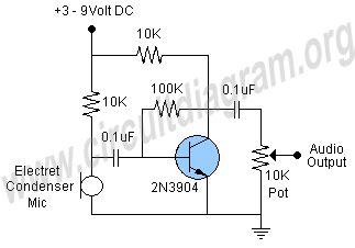Microphone Preamp Circuit Diagram Audio