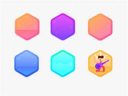 Achievement Animation Badges Dribbble Ui Usual Cn
