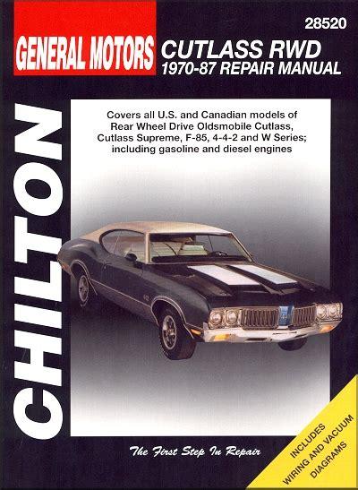 free online auto service manuals 1998 oldsmobile cutlass navigation system oldsmobile cutlass repair manual 1970 1987
