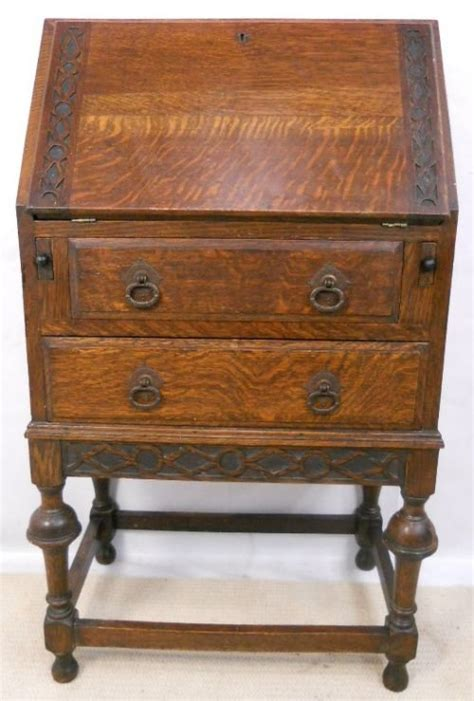 oak writing bureau uk small oak 1920 39 s carved writing bureau 160076