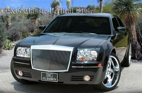 2005 Chrysler 300 Grill by E G 1pc Classic Vertical Chrome Grille Grill 2005 2010