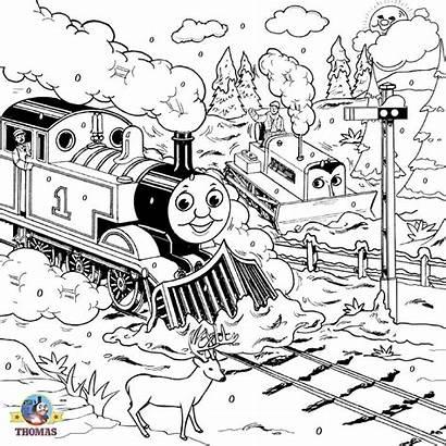 Coloring Train Thomas Engine Tank Steam Colouring