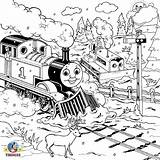 Coloring Train Thomas Engine Tank Steam Colouring Printable Drawing Track Railway Practice Percy Drawings James Render Skills Popular sketch template