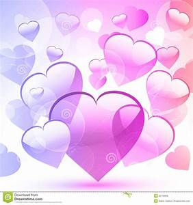 Valentine Hearts Pink And Purple Stock Vector - Image ...