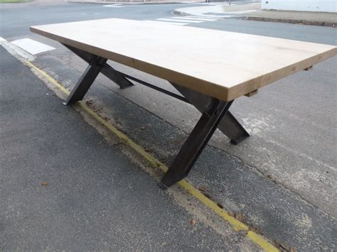 table pied fer forge plateau bois table pied fer forge plateau bois maison design bahbe