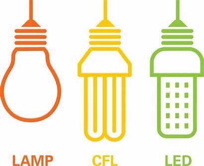 Led Lamp Vector Illustration Cfl Illustrations Clip