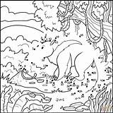Dot Anteater Coloring Printable Dots Categories sketch template