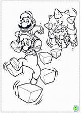 Mario Coloring Bros Paper Bowser Luigi Yoshi Desenhos Dinokids Colorir Close Printable Getcolorings Disegni Printables sketch template