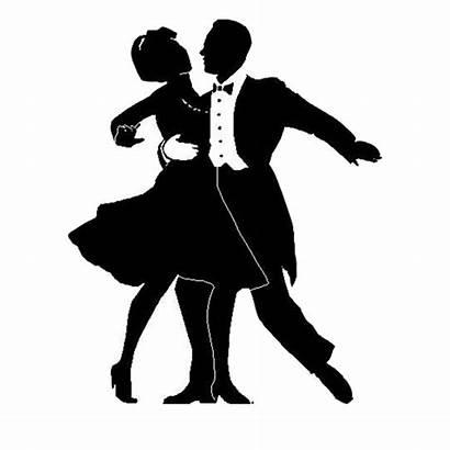 Silhouette Ballroom Dance Tango Clip Dancing Dancers