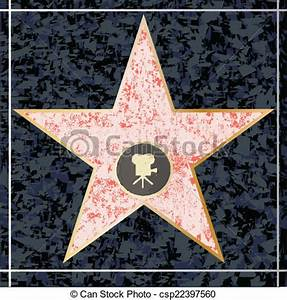 Clip Art Vector of Hollywood Walk of Fame - A depiction of ...