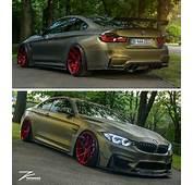 BMW Z Performance F82 M4 Matte Green Slammed  Cars