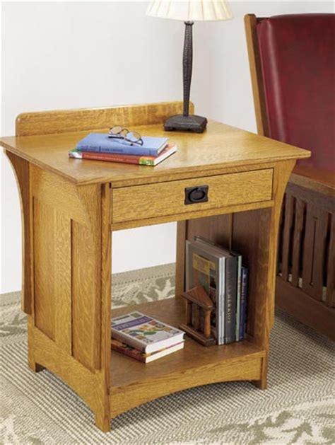 arts  crafts nightstand woodworking plan  wood magazine