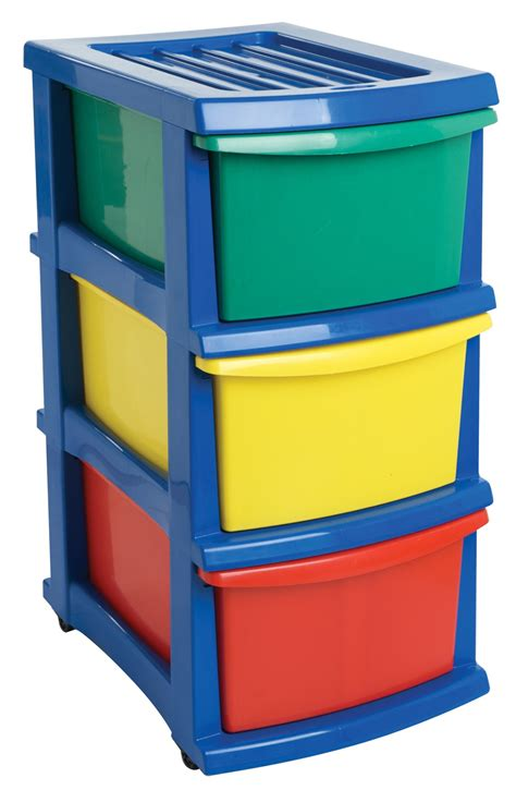 coloured storage drawers plastic a3 unit 3 drawer coloured from storage box