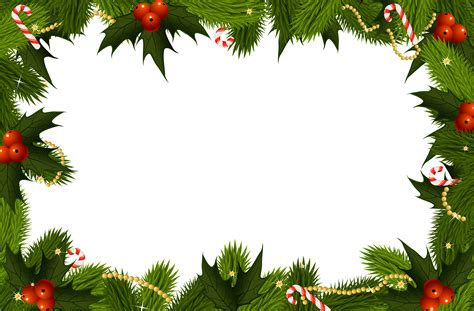 christmas frame transparent background