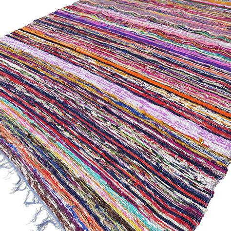 Colorful Throw Rugs by Blue Decorative Colorful Woven Chindi Boho Bohemian Rug
