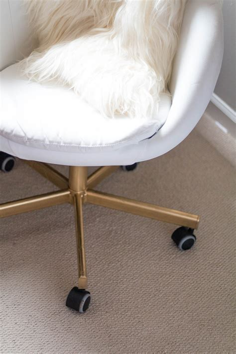 white and gold desk chair diy ikea hack gold office chair alicia tenise
