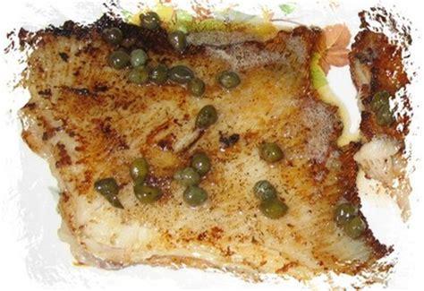 cuisiner une aile de raie recette raie au beurre noir et aux câpres 750g