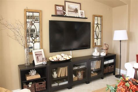 Yellow is a very robust color. Family Room After- The Big Reveal   Living room decor, Living room tv, Living room entertainment ...