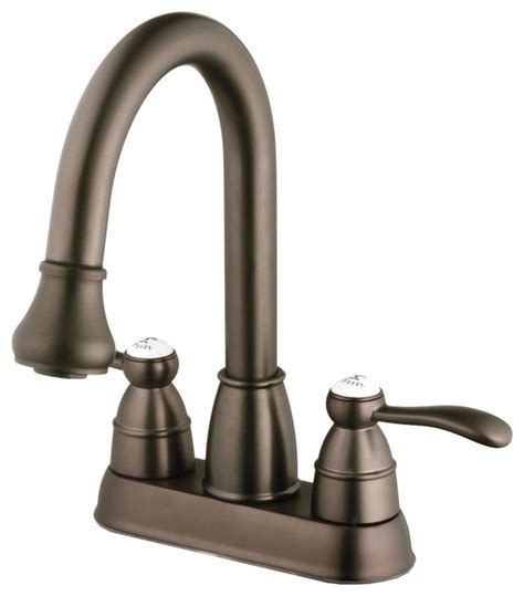 Foret Sink Faucets by Foret N600 01 Orb Pull Spray Laundry Faucet In