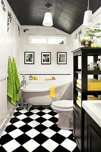 Carrelage Salle De Bain Blanc : deco salle de bain carrelage noir et blanc ~ Melissatoandfro.com Idées de Décoration
