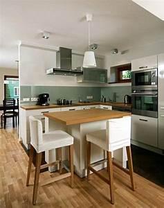 tapisserie salle a manger 11 meubles de cuisine en With deco cuisine avec meuble salle a manger blanc et bois