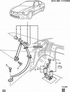 2006 Pontiac Gto Cover  Seat Belt  Cover  R  Seat Belt Gde