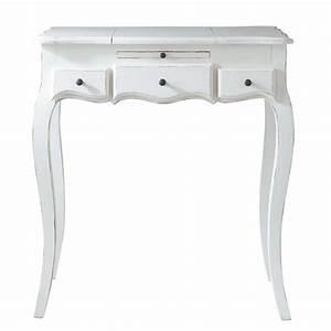 Coiffeuse Blanche Ikea : coiffeuse blanche l 70 cm mathilde maisons du monde ~ Teatrodelosmanantiales.com Idées de Décoration