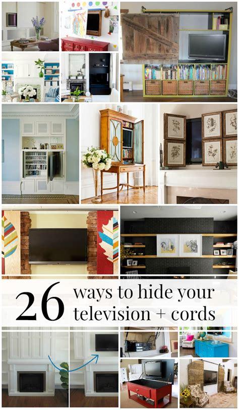 remodelaholic  ways  hide  decorate   tv