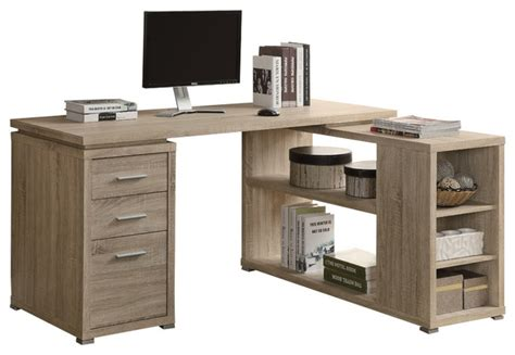 monarch specialties 7219 corner desk in natural