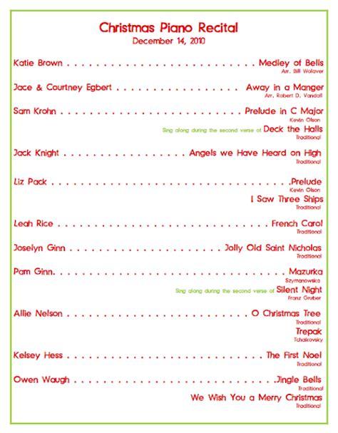 christmas program template emily s piano studio recital program