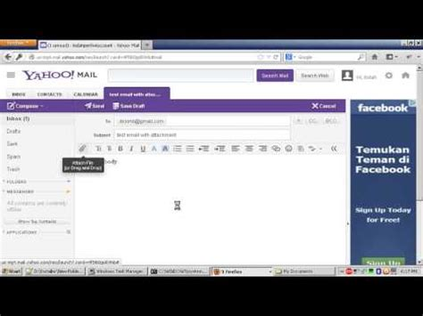 How To Attach A Resume To Email by How To Send Email Via Yahoo With File Attachment