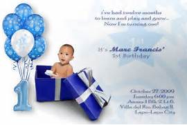 Boronganon Invitation Card On Marc 39 S 1st Birthday 1st Birthday Party Invitation Wording Wordings And Messages 1st Birthday Invitations Planning Best Birthday Wishes 1st Birthday And Baptism Invitations 1st Birthday And