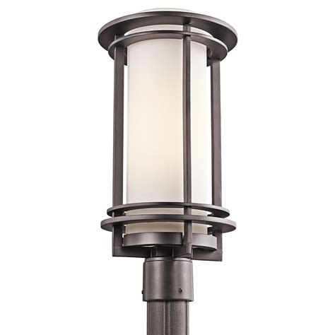 l post light fixtures kichler lighting 49349az pacific edge modern