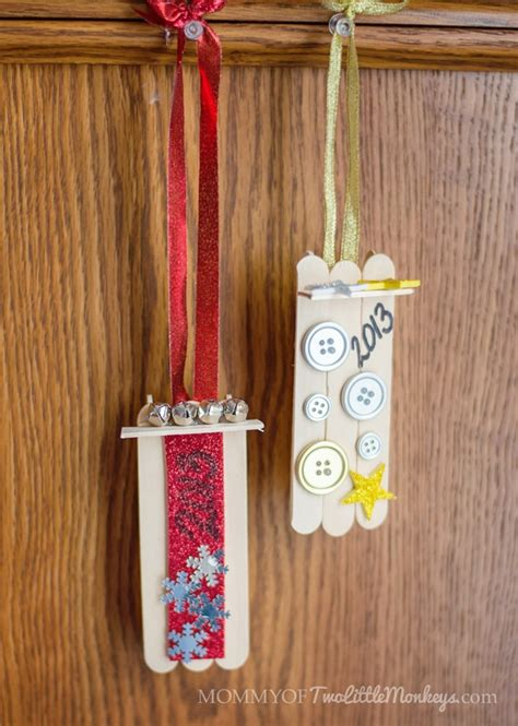 popsicle sleigh ornaments