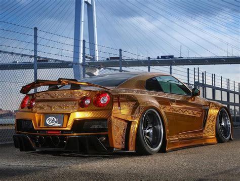 nissan gtr matte black gold one million dollar gold plated car nissan gt r x auto news